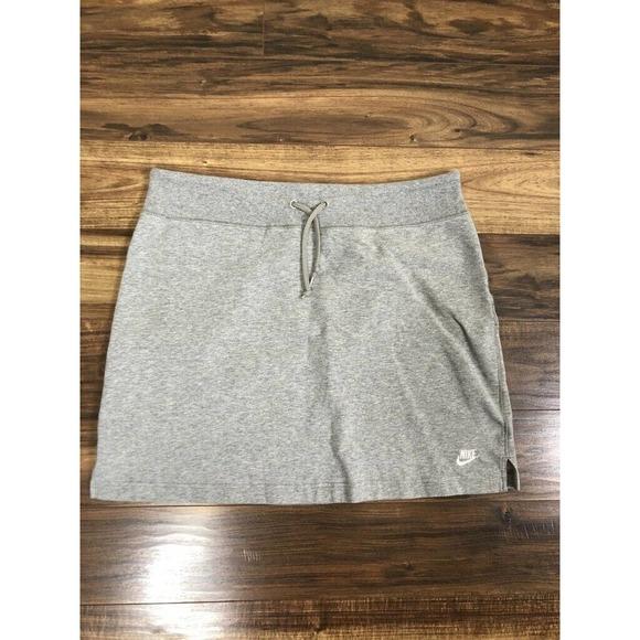 Nike Sportswear Gray Mini Pencil Skirt Large